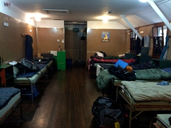 Our little cabin area, lots of women in one space!
